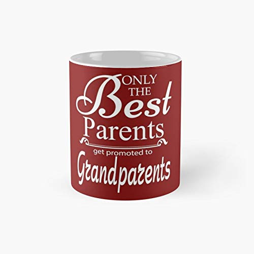 Best Parents Get Promoted to Grandparents Classic Mug Gift Funny Coffee...
