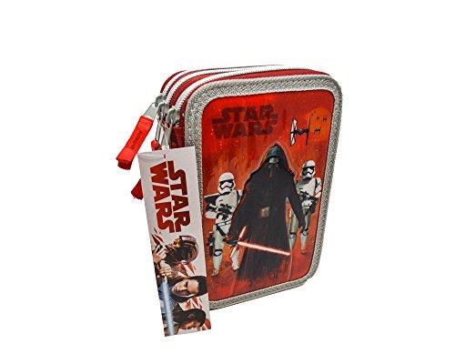 Portapastelli 3 Cerniere Astuccio STAR W. Darth Vader Scuola 42 Pezzi Giotto Fair
