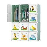 Armadi Combinato Montaggio Tessuto dormitorio Multifunzionale Combinazione Bambini Guardaroba Semplice di plastica della Famiglia Piccolo gabinetto Liuyu. (Color : A)