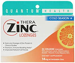 Cold Season+ TheraZinc Lozenges, ORANGE LOZENGES, 24 LOZ by Quantum Health
