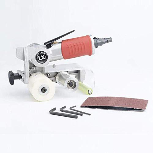 PYROJEWEL durable Pneumatic Wire Drawing Machine Air Belt Sander Metal Polishing Machine Mini Sandpaper Machine 60 * 260mm 7000rpm Industrial tools