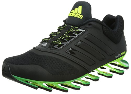 adidas Damen Springblade Drive 2 Sneaker, schwarz/gelb/grün, 37 1/3 EU