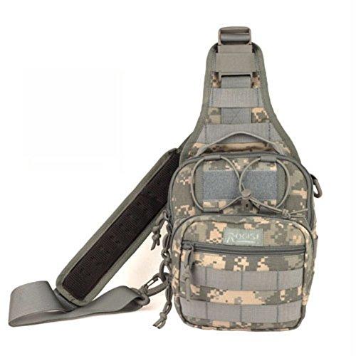Sincere® Hambourg poitrine sac / Messenger / sac de sport de plein air / ventilateurs militaires de camping poitrine pack-gris 15L