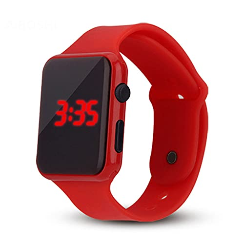 Square Type LED Electronic Watch, Boys, Girls, Leisure Sports Children's Electronic Watches for High, Middle School and Elementary School Students.