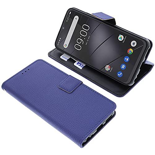 foto-kontor Tasche für Gigaset GS4 Book Style blau Schutz Hülle Buch