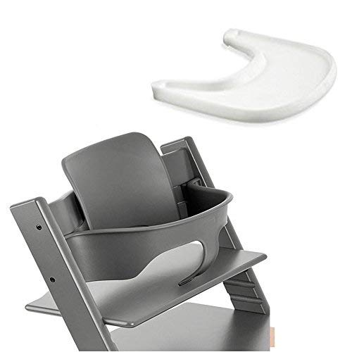 Price comparison product image Stokke Tripp Trapp Baby Set - Storm Grey & Tray - White