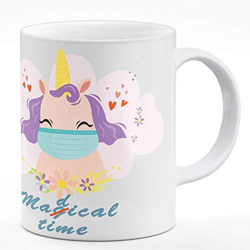 Ferocity Tasse mit Spruch Medical Magical Time Krankenschwester Einhorn Virus 2020 Geschenk Weiß, Unicorn Med[117]