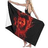 jhgfd7523 Dean Lucifer Supernatural Toalla de playa Juego de toallas de baño baño Accesorios Toalla de piscina Toalla de viaje y baño 80 cm x 130 cm