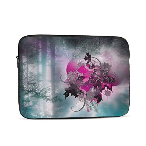 Heart Leaves Grass Laptop Sleeve 13 inch, Shock Resistant Notebook Briefcase, Computer Protective Bag, Tablet Carrying Case for MacBook Pro/MacBook Air/Asus/Dell/Lenovo/Hp/Samsung/Sony