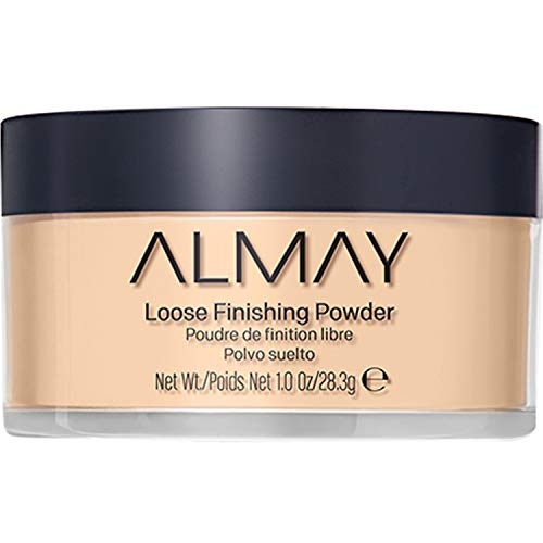 Almay Loose Finishing Powder, Natural Finish Mattifying Makeup Setting Powder, Hypoallergenic, Cruelty Free, Fragrance Free, Dermatologist Tested, 200 Light Medium, 1 oz