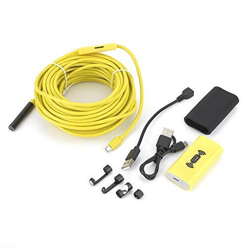 Cámara de inspección inalámbrica, endoscopio YPC110B WIFI 8 mm 1200P Ultra HD 10m Cable impermeable IP68, para teléfonos inteligentes Android e IOS, cámara de inspección, endoscopio industrial