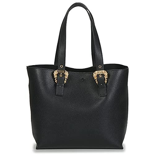 Versace Borsa shopper Jeans Couture nera con fibbie intagliate
