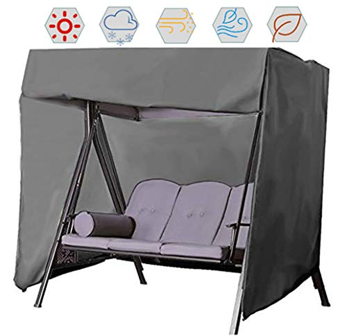Stone Universal Waterproof 2 Seater Garden Swing Seat Replacement Canopy Cover