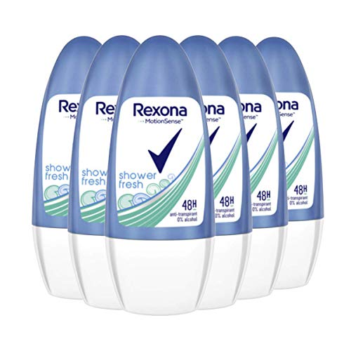 Rexona Shower Fresh Deo Roll-On Women, 6er-Pack (6 x 50 ml)