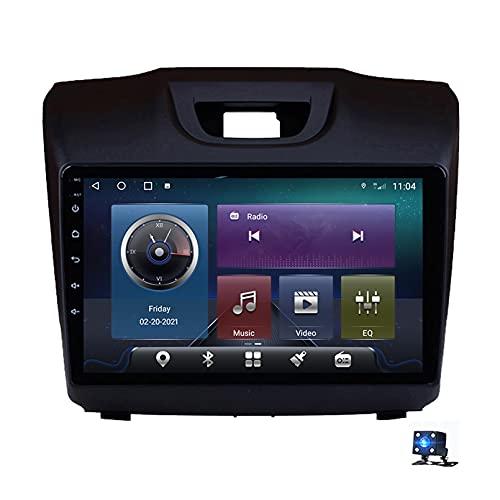 9'Android 10.0 Pantalla Táctil Radio Estéreo Para Automóvil Navegación Por Satélite Para Isuzu D-MAX Chevrolet S10 2015-2018 Soporte GPS Autoradio WiFi Bluetooth/Control Del Vola(Color:4G+WIFI 4G+64G)