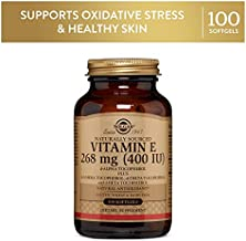 Solgar Vitamin E 268 MG (400 IU) Mixed (d-Alpha Tocopherol & Mixed Tocopherols), 100 Softgels - Supports Immune System & Skin Nutrition - Natural Antioxidant - Gluten Free, Dairy Free - 100 Servings