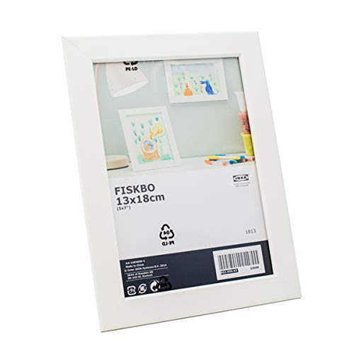 Ikea Fiskbo Cornice portafoto bianca da 13 x 18 cm, 4 pezzi