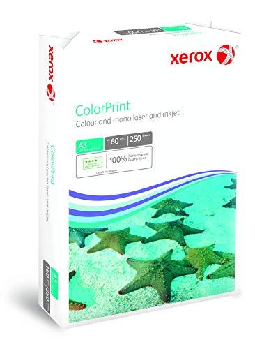 Xerox 003R95925 Premium Farblaser-Papier Druckerpapier DIN A3, 160 g/m², 250 Blatt pro Pack , weiß