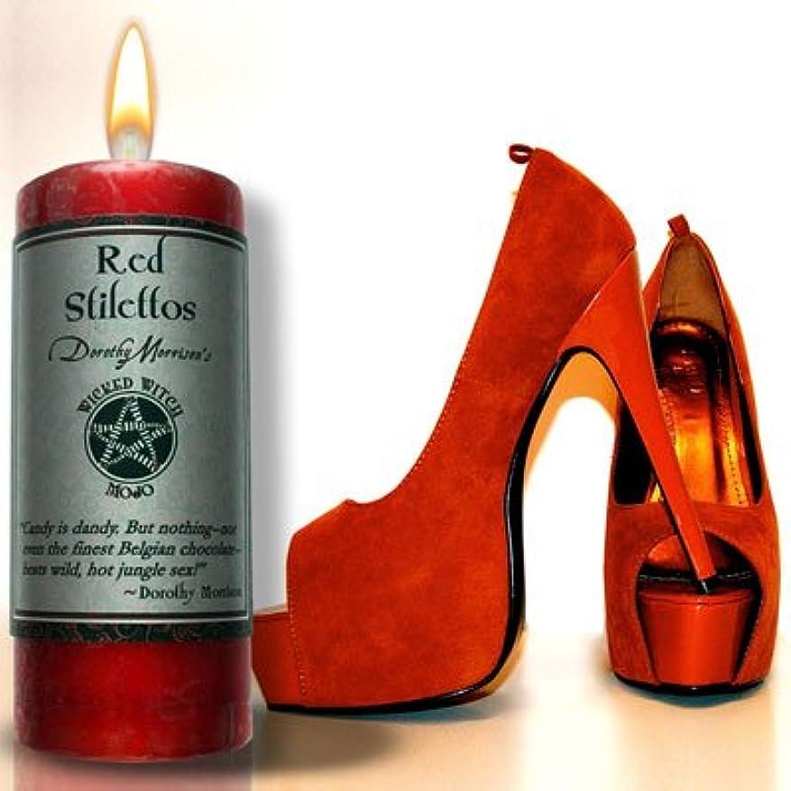 住人しわの間にWicked Witch MojoレッドStiletto Candle by Dorothy Morrision
