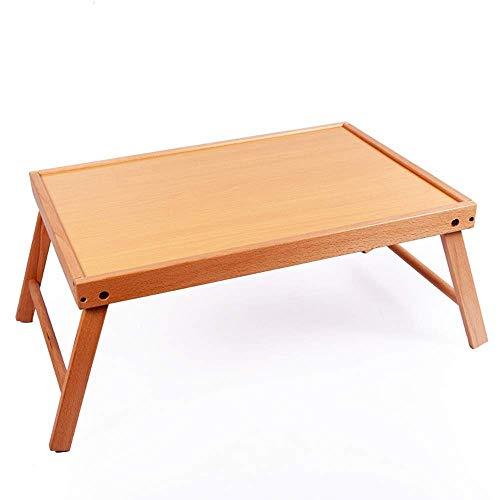ZGQA-GQA Plegable computadora de la tabla de bambú escritorio del ordenador portátil-76 * 28 * 42cm ajustable portátil Desayuno de la porción de la cama mesa de ordenador portátil de la bandeja (Color