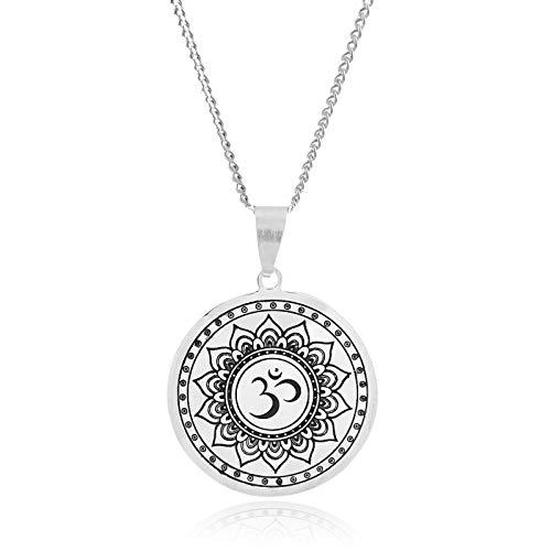 Klimisy – Mandala halskedja med berlock av rostfritt stål – Buy one & Plant one Tree –...