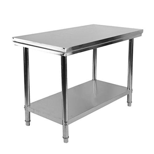 Acero inoxidable mesa mesa cocina Mesa Gastro Acero Inoxidable Mesa de trabajo...