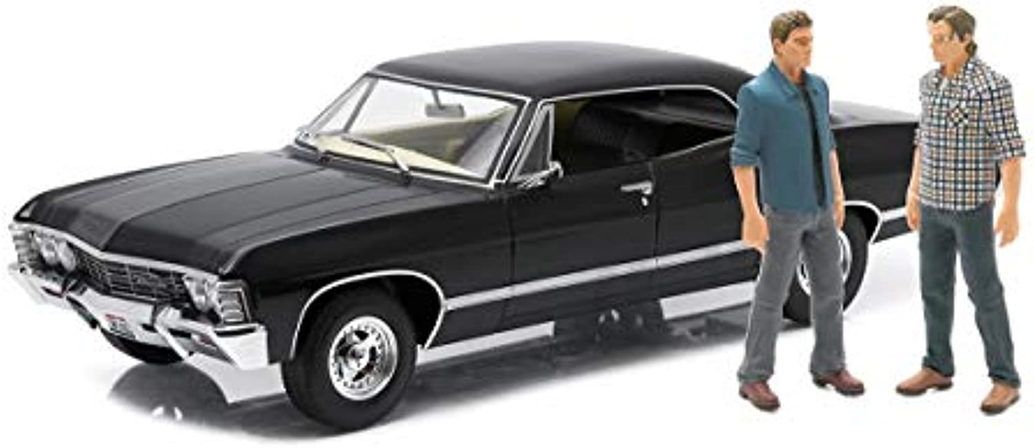 Supernatural 1967 Chevrolet Impala Sport Sedan 1 18 Scale Die-Cast Metal Vehicle With Sam And Dean Figures