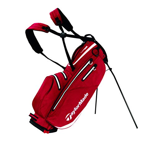 TaylorMade Flextech Waterproof, Borsa con Supporto, per Golf Uomo, Red, Taglia Unica
