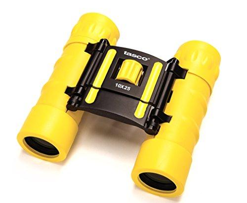 Tasco Fernglas 10X25 Essentials, FRP Compact, Yellow - Mira para Caza, Color Amarillo, Talla Standard