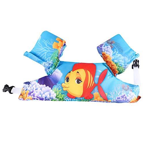 Alomejor1 Chaleco de Traje de baño para niños Chaleco de baño Inflable Ligero para niños Mangas para Dispositivos de flotación de Seguridad para bebés