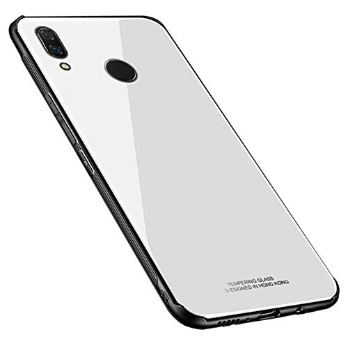 Kepuch Quartz Case Capas TPU &Voltar (Vidro Temperado) para Huawei Nova 3 - Branco