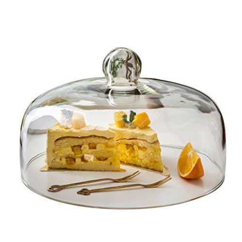 Restaurant Dessert Dome, glas steak pastry pizza stofcover Home & Dome Commercial voedsel opslag deken, meerdere maten 23 * 23 * 10.5CM