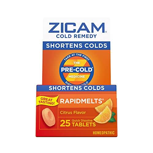 Zicam Cold Remedy Citrus RapidMelts, 25 Quick...
