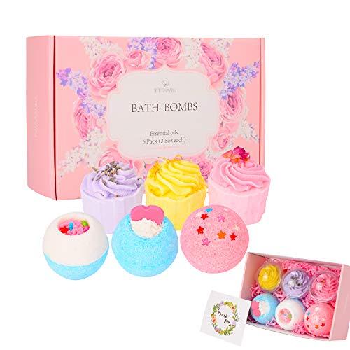 Bath Bombs Gift Set, TTRwin 6 Fizzy Bubble Bath Bath Bombs, Organic Natural...