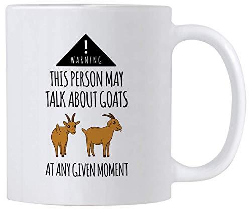 Regalos de granjero de cabra. Esta persona puede hablar sobre cabras en cualquier momento dado. Taza de café de cabra pigmea de 11 oz. Idea de regalo o decoración para granjeros y amantes de la cabra.