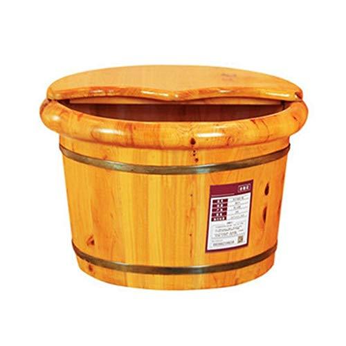 Pédiluve, Bain de Pieds de cèdre Barrel, Lisse et pédicure délicats Barils Pédicure Bowl Spa Massage for Les Pieds Tremper Barrel avec Couvercle pédil