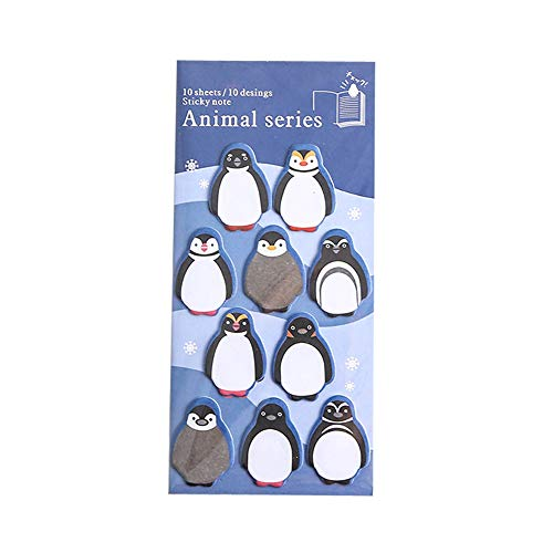 DuoYo Cute Zoo Theme Penguin Sticky Note Leave Message Note 10 Sheets Pad Student Stationery School Supplies