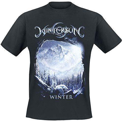 Wintersun Winter Männer T-Shirt schwarz L 100% Baumwolle Band-Merch, Bands