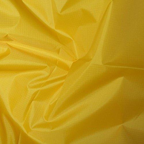 Gelb Gewebe der gefärbt Polyester Rip Stop reißfest wasserdicht 150cms breit–Meterware