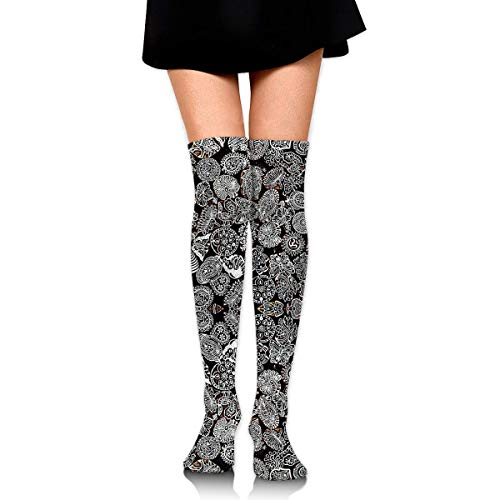WH-CLA Calf Sock Disfraz De Halloween Mujeres Niñas Calcetines Largos Cosplay Informal Novedad Calcetines Altos Hasta El Muslo Calentadores De Pierna Por Encima De La Rodilla Calcetines