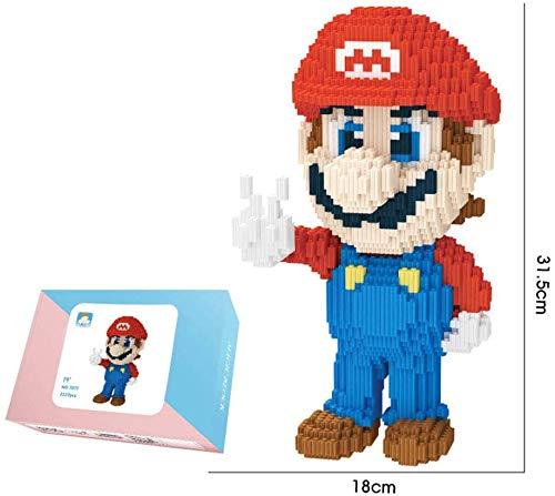 LAL6 Micro Diamond Blocks Bricks Mini Juguetes De Ensamblaje, Red Mario Figure Modelo 3D, Juguetes De Plástico para Niños Adultos para Regalo De Colección,A