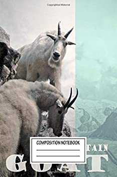 Composition Notebook  Animals Mountain Goat Animal Prints Wide Ruled Note Book Diary Planner Journal for Writing