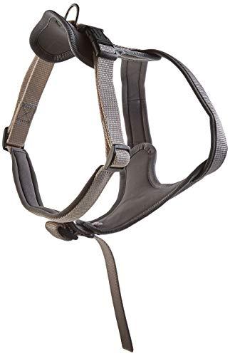 HUNTER NEOPREN Hundegeschirr, Nylon, gepolstert mit Neopren, für Sport und Freizeit M-L, grau