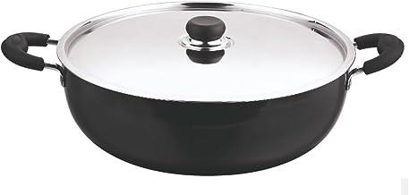 Vinod Cookware Deep Kadai with Lid, 10.0 Litres