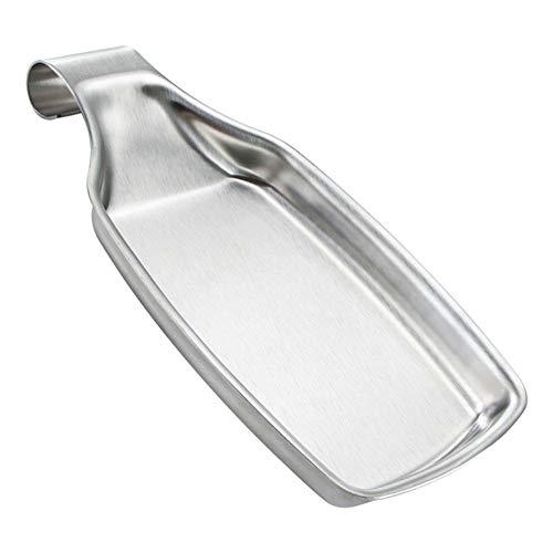 YUY Soporte de cuchara de acero inoxidable, almohadilla de sopa 304, herramientas de cocina