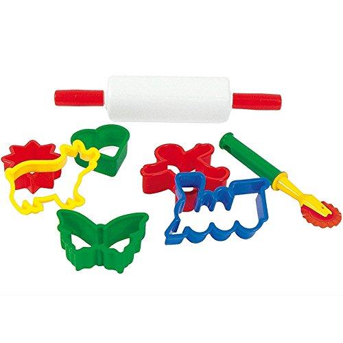 Dantoy 4239 Küchenspielzeug Ausstechformen mit Ausroller