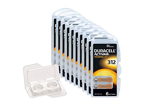 Duracell, EasyTab/Activair Typ 312Batterie per apparecchi acustici Zinc Air P312PR41ZL3, 60pezzi