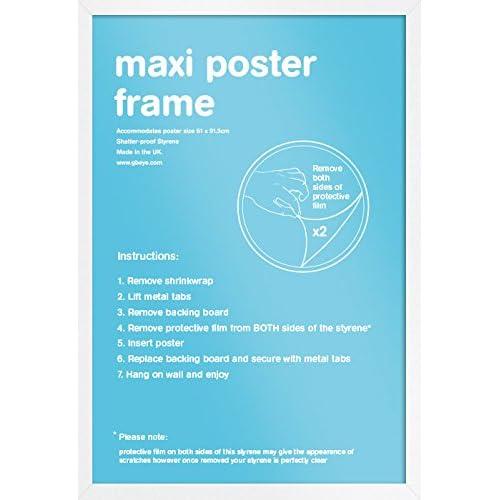 GB Eye LTD, Blanc - Maxi, 61x91.5cm - Eton, Cadre