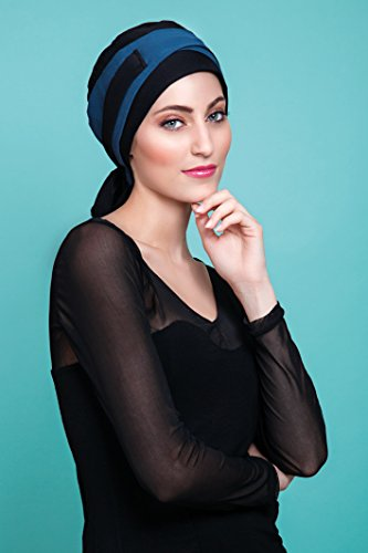 Preisvergleich Produktbild NJ Schaffung Turban Moune schwarz / blau Ente