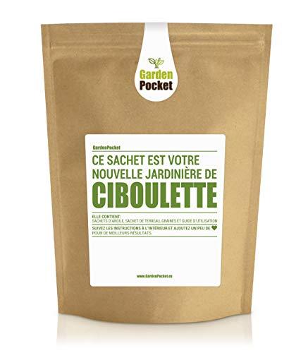 Garden Pocket - Kit de culture d'herbes aromatiques CIBOULETTE - Sac de pot de fleur